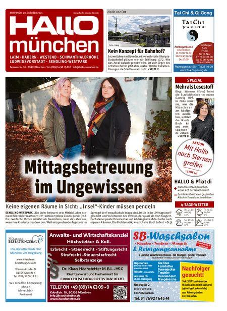 Hallo München Südwest vom 20.10.2021