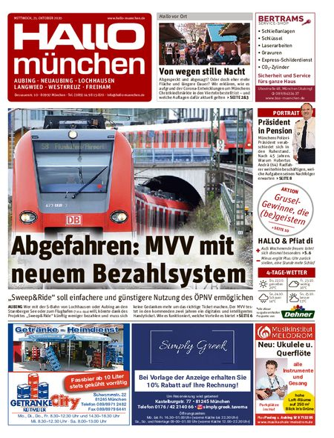 Hallo München Aubing vom 21.10.2020