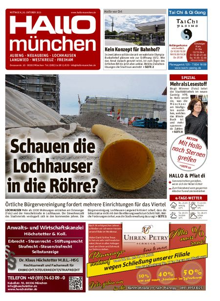 Hallo München Aubing vom 20.10.2021