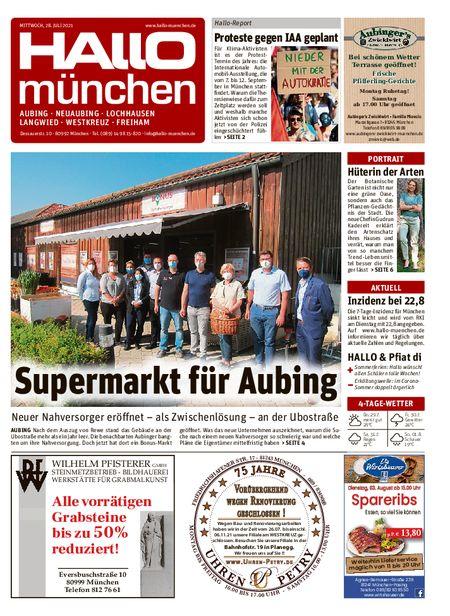Hallo München Aubing vom 28.07.2021