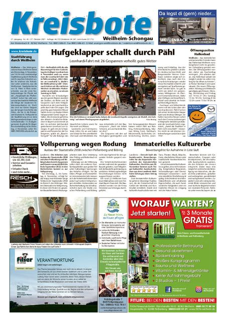 Kreisbote Weilheim/Schongau vom 27.10.2021