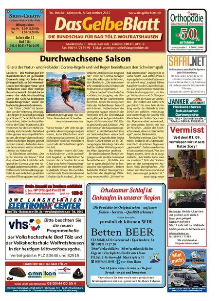 Rundschau Bad Tölz/Wolfratshausen vom 08.09.2021