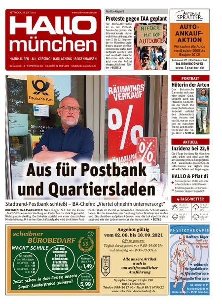 Hallo München Südost vom 28.07.2021