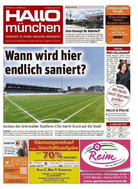 Hallo München Südost vom 20.10.2021