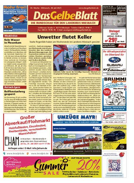 Rundschau Miesbach vom 28.07.2021