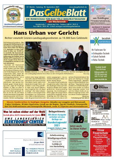 Rundschau Bad Tölz/Wolfratshausen Wochenende vom 18.09.2021