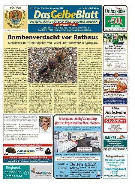 Rundschau Bad Tölz/Wolfratshausen Wochenende vom 28.08.2021