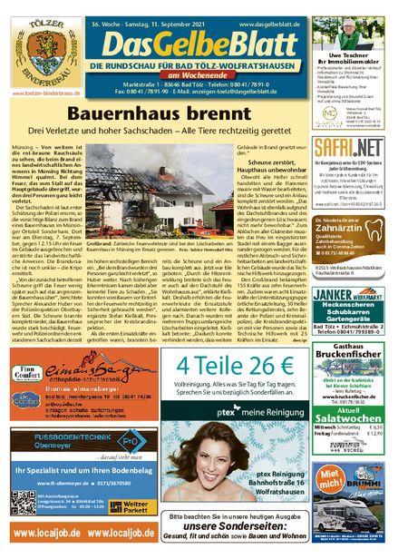 Rundschau Bad Tölz/Wolfratshausen Wochenende vom 11.09.2021