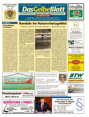 Rundschau Bad Tölz/Wolfratshausen Wochenende vom 10.04.2021